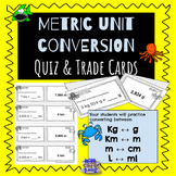 Differentiated Metric Conversion Quiz Trade task cards Sea Theme 4.MD.1
