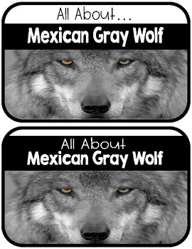 Differentiated Mexican Gray Wolf Research Books