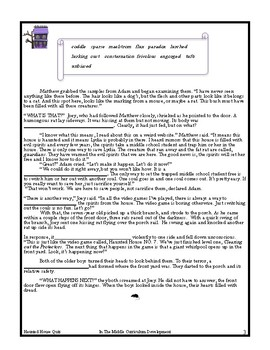 """Haunted House No.7"" Differentiated Vocabulary Unit for the Middle Grades"