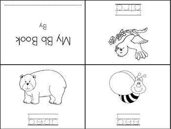 Differentiated Mini Alphabet Book - Letter Bb