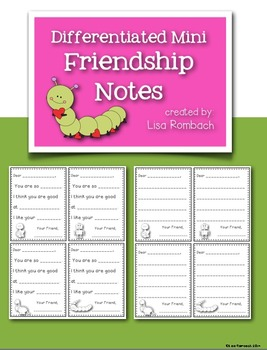 Differentiated Mini Friendship Notes