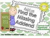 Differentiated Missing Addend Center for Addition