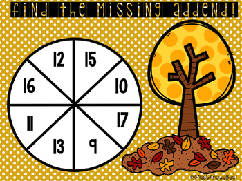 Differentiated Missing Addend Games: Fall Edition