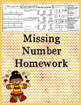 Differentiated Missing Numbers Homework