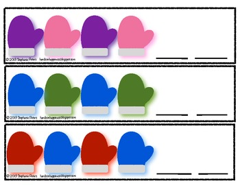 Differentiated Mitten Pattern Cards