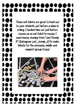 Differentiated Money Exit Tickets