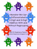 Differentiated Monster Mix Up ~ 2 & 3 Digit Addition with