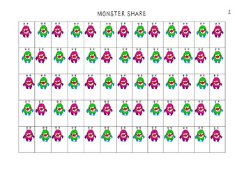 *Differentiated* Monster Share (using monsters to practise division)