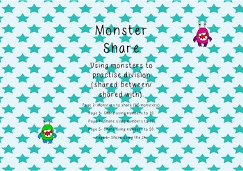 *Differentiated* Monster Share (using monsters to practise