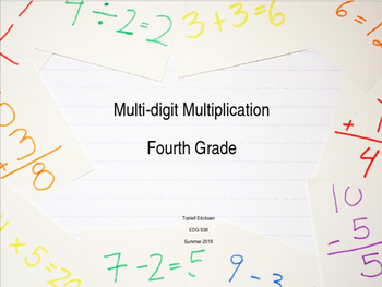 Differentiated Multi-Digit Multiplication Lesson with Inte