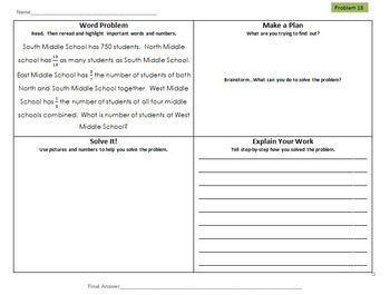 Multi-Step Math Word Problems 5th Grade Common Core (Bundle)