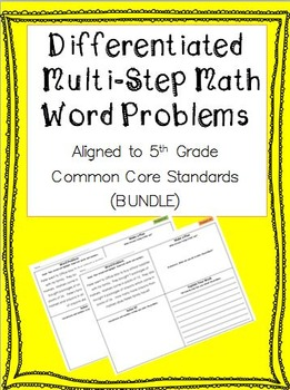 all worksheets 187 solving multi step word problems