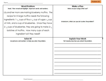 Differentiated Multi-Step Math Word Problems 5th Grade Common Core (Set 5)