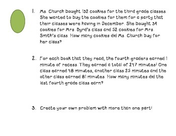 Differentiated Multi-Step Word Problem Stations
