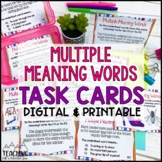 Multiple Meaning Words Task Cards | Distance Learning | Google Classroom