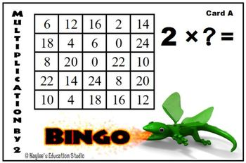 Differentiated Multiplication Bingo Game
