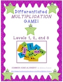 Differentiated Multiplication Game * Common Core Aligned *