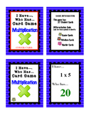 Differentiated Multiplication - I Have / Who Has Card Game