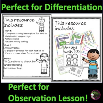 Differentiated Multiplication Lesson (Newly Revised...100 pages)