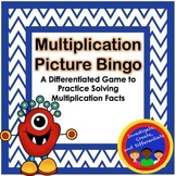 Differentiated Multiplication Picture BINGO