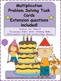 Differentiated Multiplication Problem Solving Task Cards