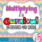 Multiplication Differentiated Stations for Math Workshop: