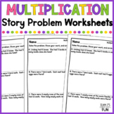Differentiated Multiplication Story Problems Printables