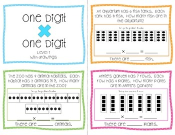 Differentiated Multiplication Task Cards for Special Education