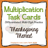 Thanksgiving Math Differentiated Multiplication Task Cards