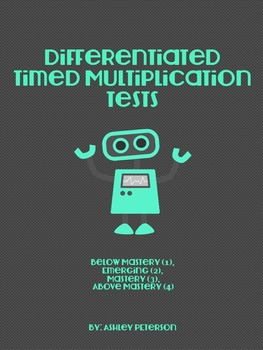 Differentiated Multiplication Timed Tests (NO PREP)