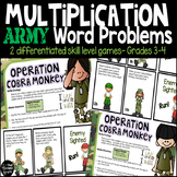 Differentiated Multiplication Word Problem Game Grades 3-4