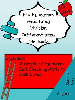 Multiplication and Long Division: Graphic Organizers and A