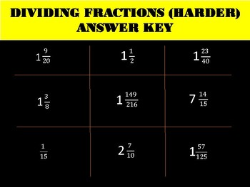 Differentiated Multiplying and Dividing Fractions/Mixed Numbers TIC TAC TOE
