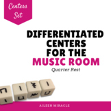 Differentiated Music Centers {Quarter Rest/ Ta Rest}