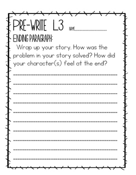 Differentiated Narrative Writing 1st, 2nd or 3rd Grade