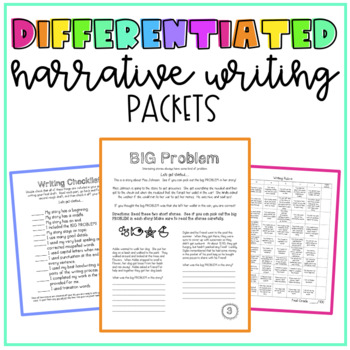 Differentiated Narrative Writing Packets