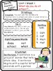 Wonders Reading Differentiated Newsletters / Study Guides Grade 1 Units 1-3