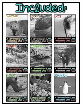 Differentiated Nonfiction Animal Units- Bundle 3