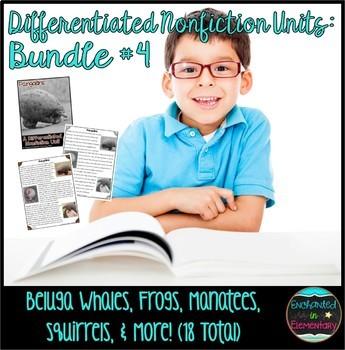 Differentiated Nonfiction Animal Units- Bundle #4