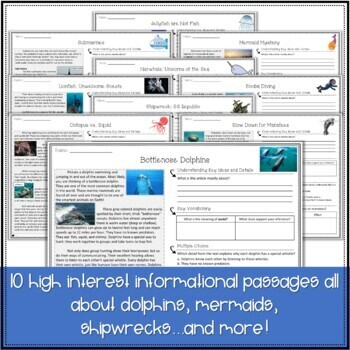 Differentiated Nonfiction Reading Passages and Questions