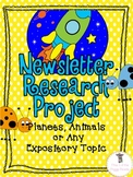 Differentiated Nonfiction Research Newsletter Bundle