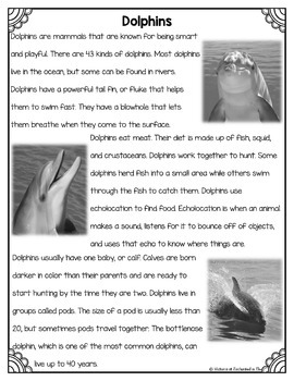 Differentiated Nonfiction Unit: Dolphins