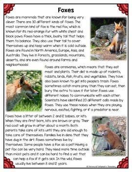 Differentiated Nonfiction Unit: Foxes