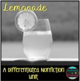 Differentiated Nonfiction Unit: Lemonade