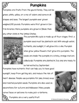 Differentiated Nonfiction Unit: Pumpkins
