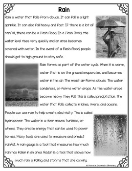 Differentiated Nonfiction Unit: Rain