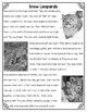 Differentiated Nonfiction Unit: Snow Leopards