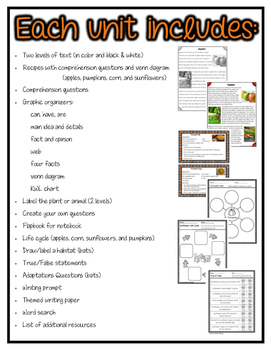 Differentiated Nonfiction Units: Fall Bundle