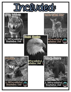 Differentiated Nonfiction Units: Michigan Animals Bundle