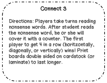Differentiated Nonsense Word Fluency Packet